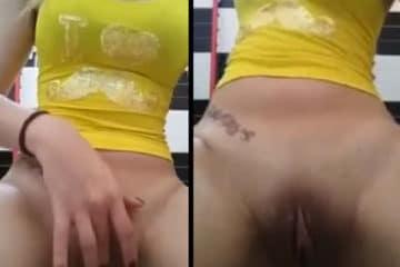 Erika loirinha se masturbando