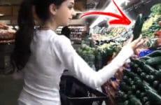 Olha o que ela fez no mercado