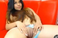 Ninfa e sua buceta linda na webcam