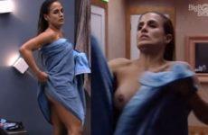 Carol peixinho no BBB19 pagando peitinho depois do banho