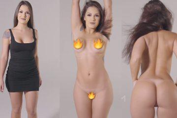 Morena delicia no strip tease tirando tudo ficando peladinha