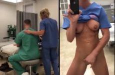 enfermeira safada fazendo sacanagem durante a consulta do paciente-min